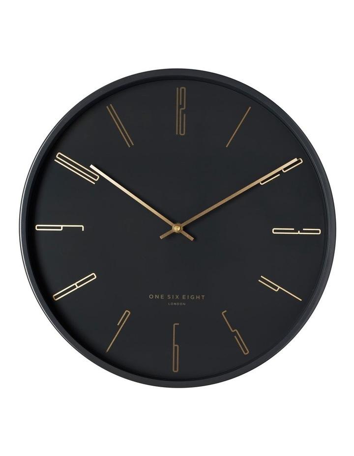 Maya 40Cm Charcoal Grey Silent Wall Clock image 1