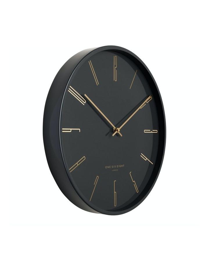 Maya 40Cm Charcoal Grey Silent Wall Clock image 2