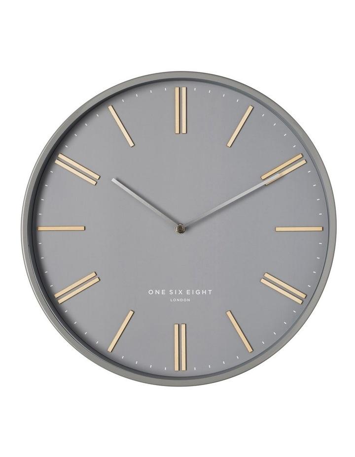Esme 40Cm  Grey Silent Wall Clock image 1