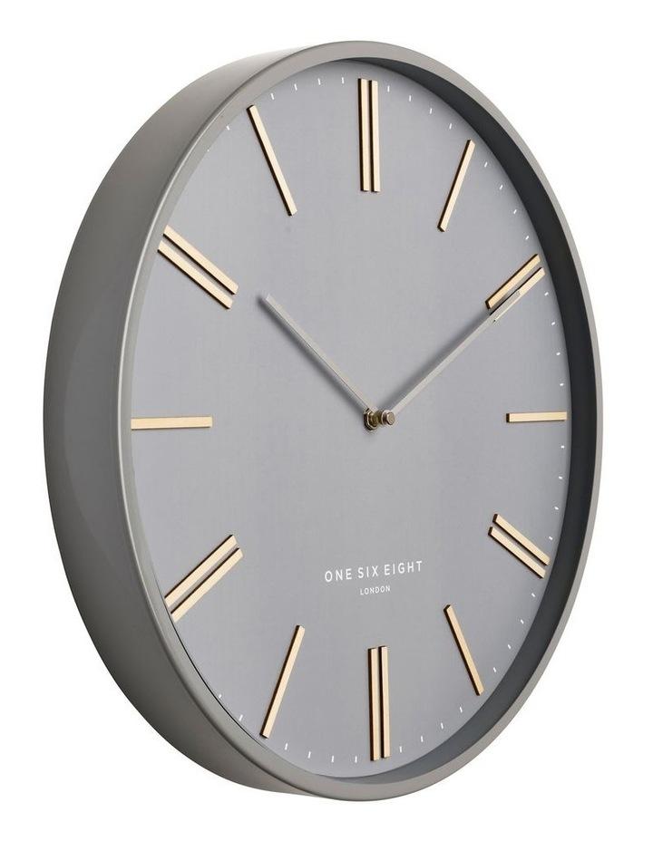 Esme 40Cm  Grey Silent Wall Clock image 2