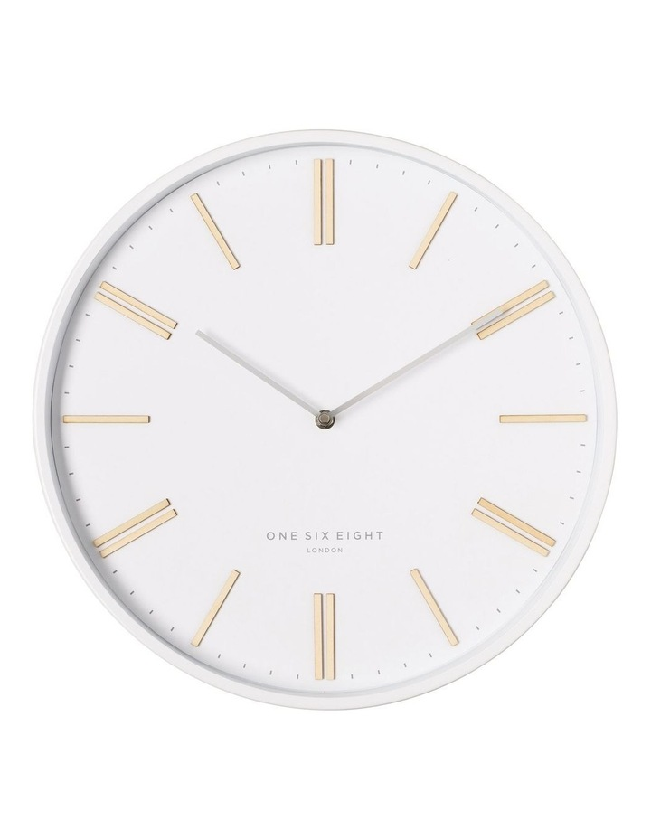 Esme 40Cm White Silent Wall Clock image 1