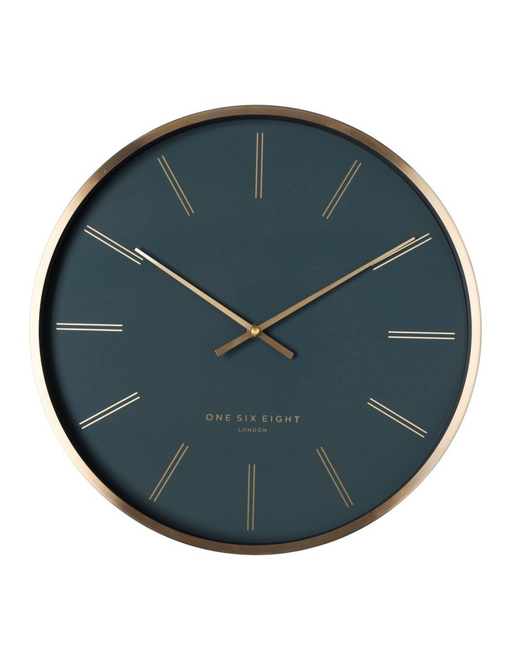 Otto 40Cm Petrol Blue Silent Wall Clock image 1