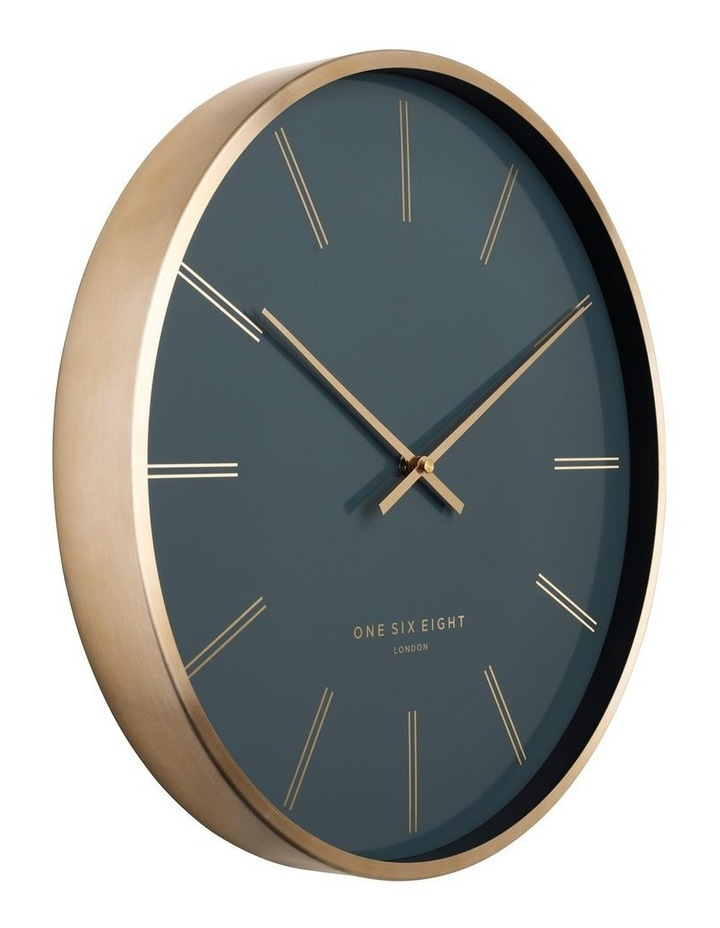 Otto 40Cm Petrol Blue Silent Wall Clock image 2