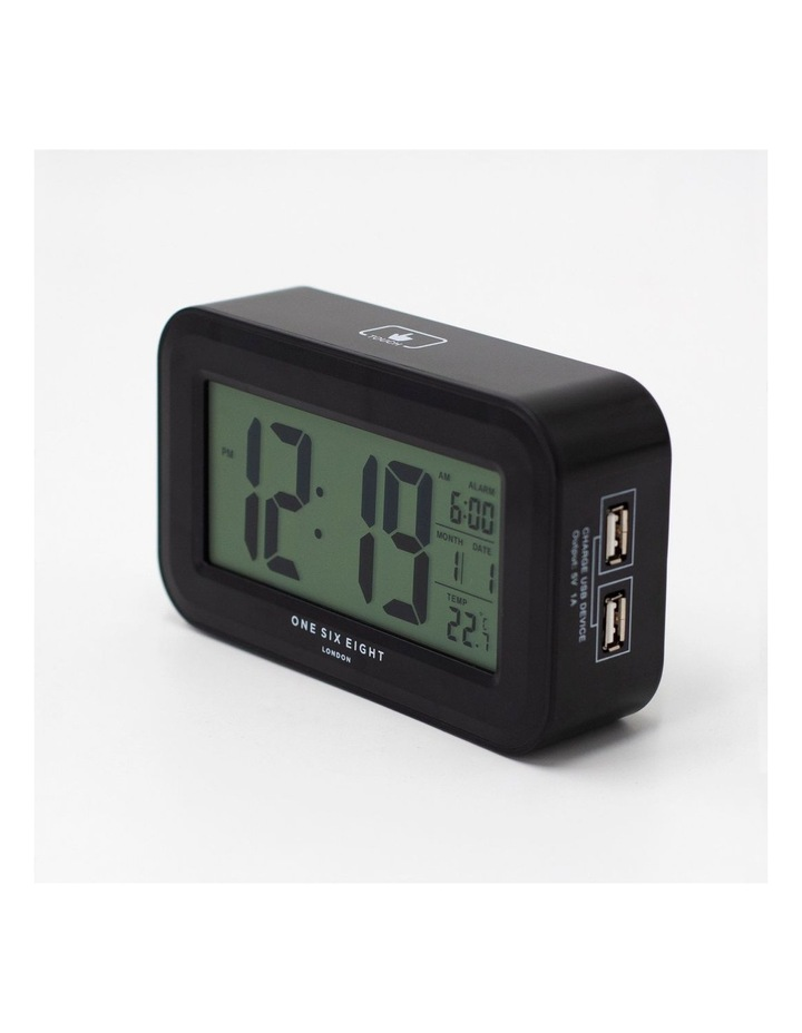 Rielly - Black Digital Rectangle  Alarm Clock image 2
