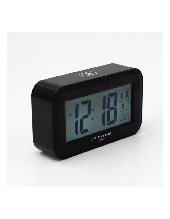 Rielly - Black Digital Rectangle  Alarm Clock image 3