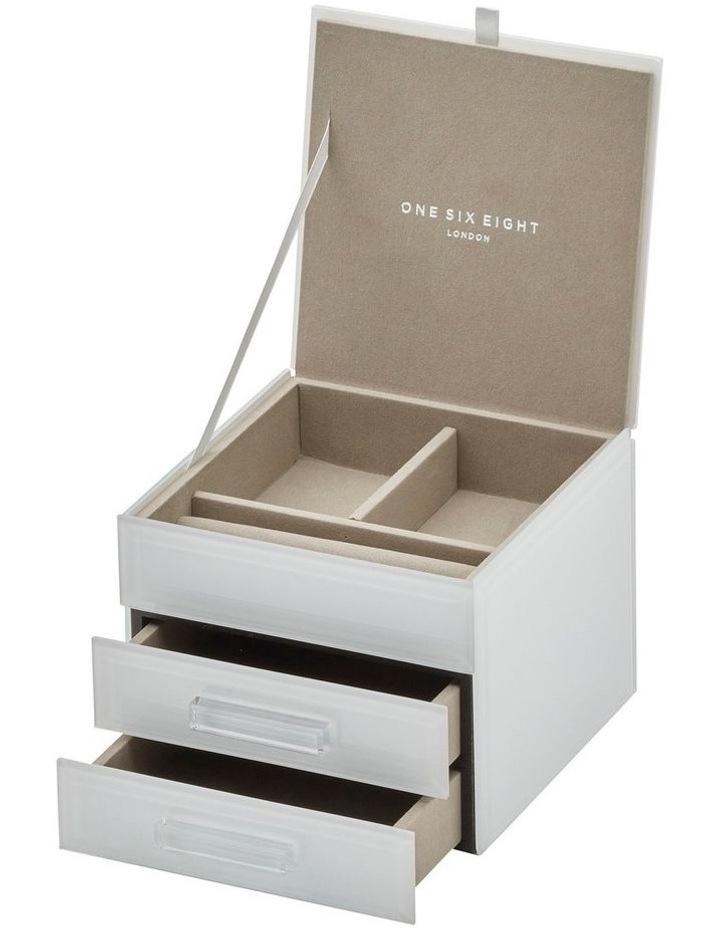 Gabriella White Small Jewellery Box image 1