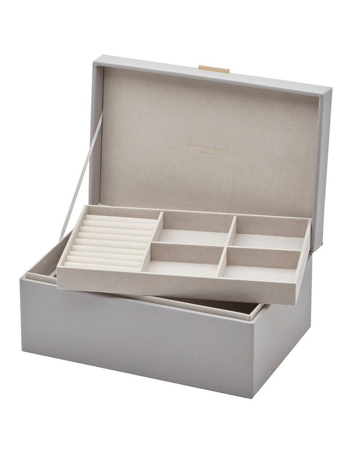 Rosie Cool Grey Large Jewellery Box image 1