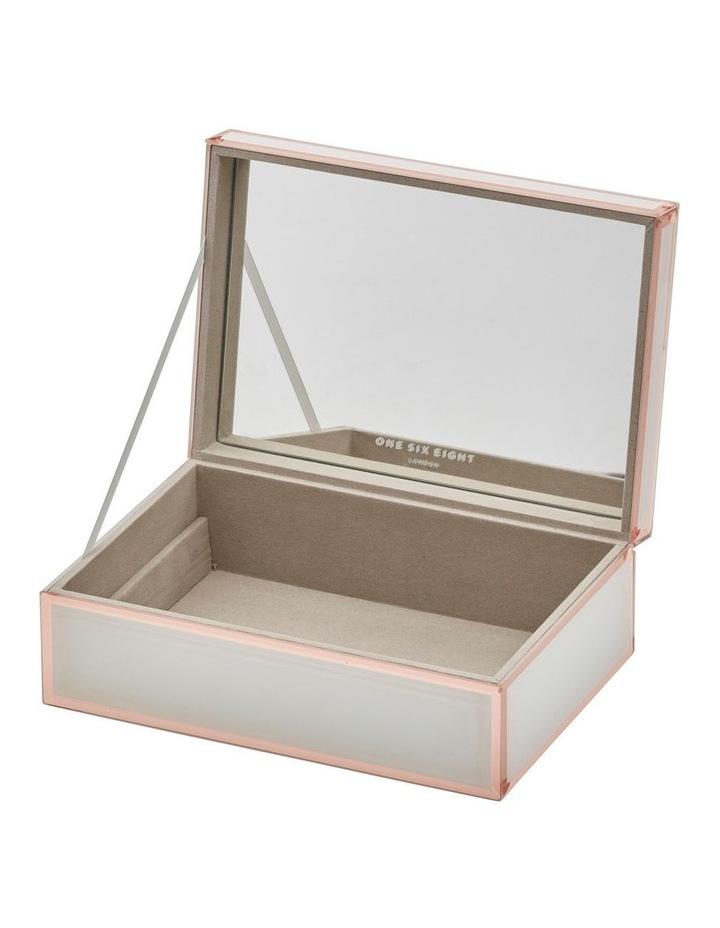 Sara White / Rose Gold Large Jewellery Box image 4
