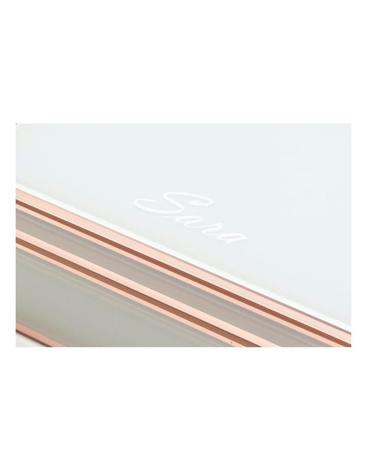 Sara White / Rose Gold Large Jewellery Box image 5