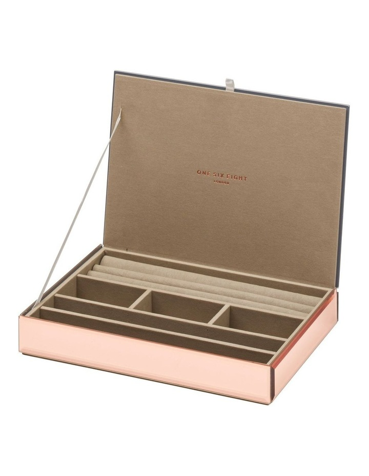 Stackable Jewellery Box With Lid - Rose Gold image 1