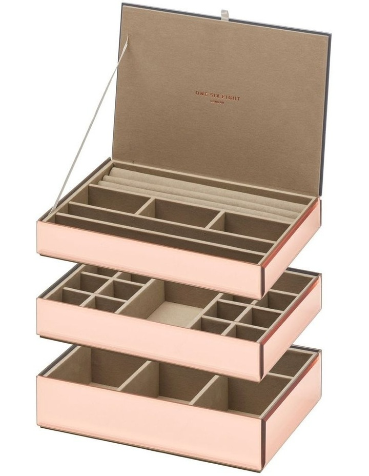 Stackable Jewellery Box With Lid - Rose Gold image 7
