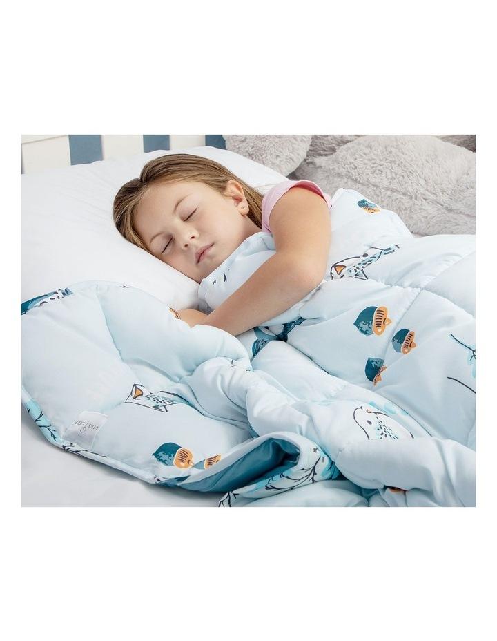 Kids Weighted Blanket  - Light Blue Calming Blanket - 2.5kg image 4