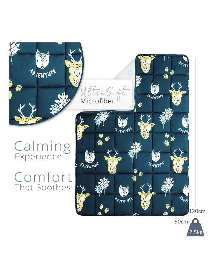 Kids Weighted Blanket - Blue Yellow Calming Blanket - 2.5kg image 2