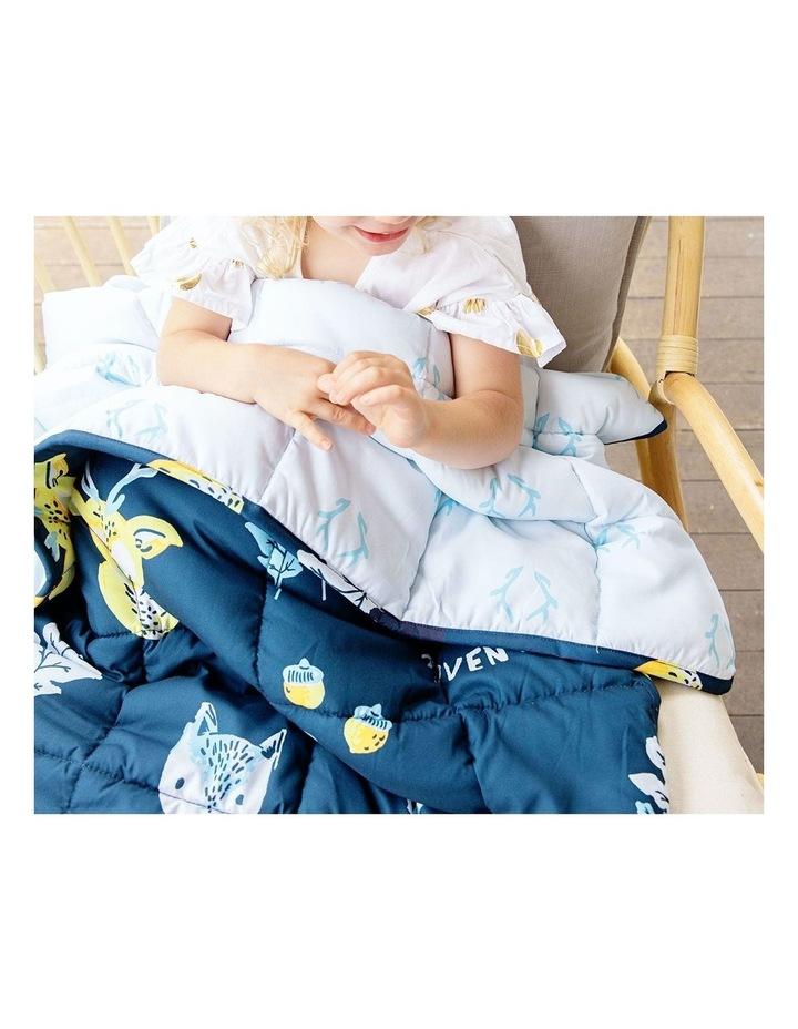 Kids Weighted Blanket - Blue Yellow Calming Blanket - 2.5kg image 3