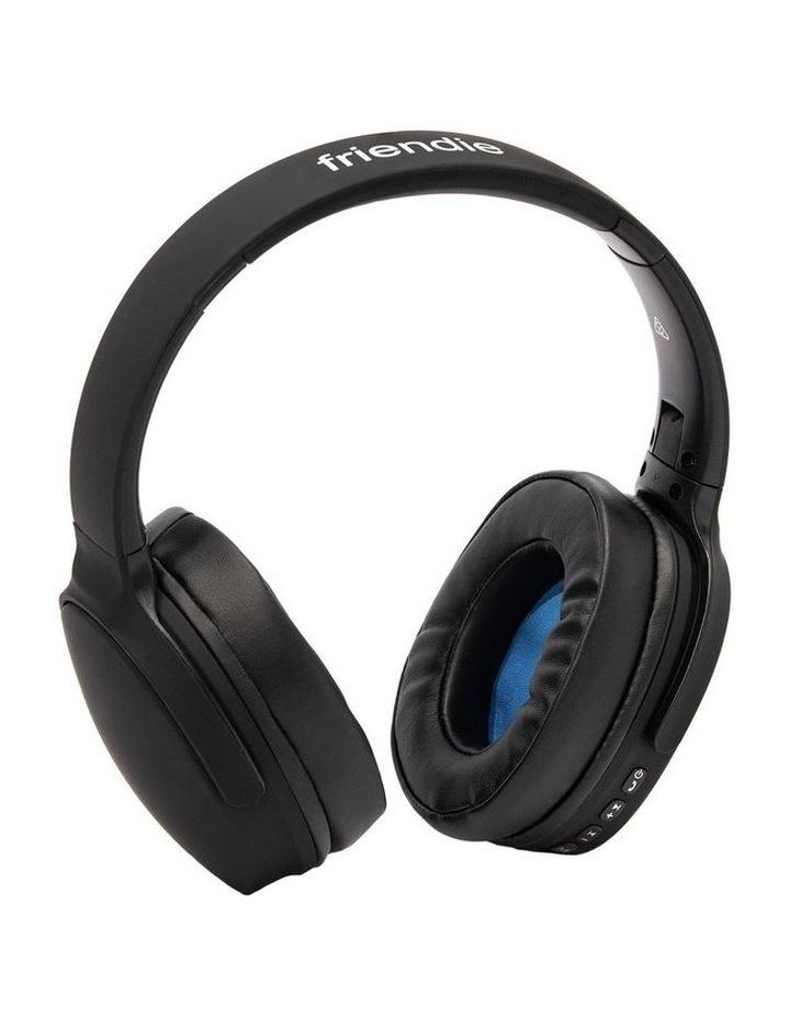 Air Aura Matte Black (Over Ear Wireless Headphones) image 2