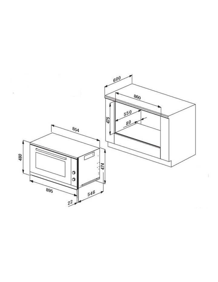 105 litre Multifunction 90cm Oven OMF9411 image 5