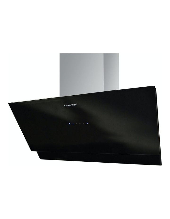 Vertical Black Glass Wall mounted 90cm Rangehood RHGV90 image 2