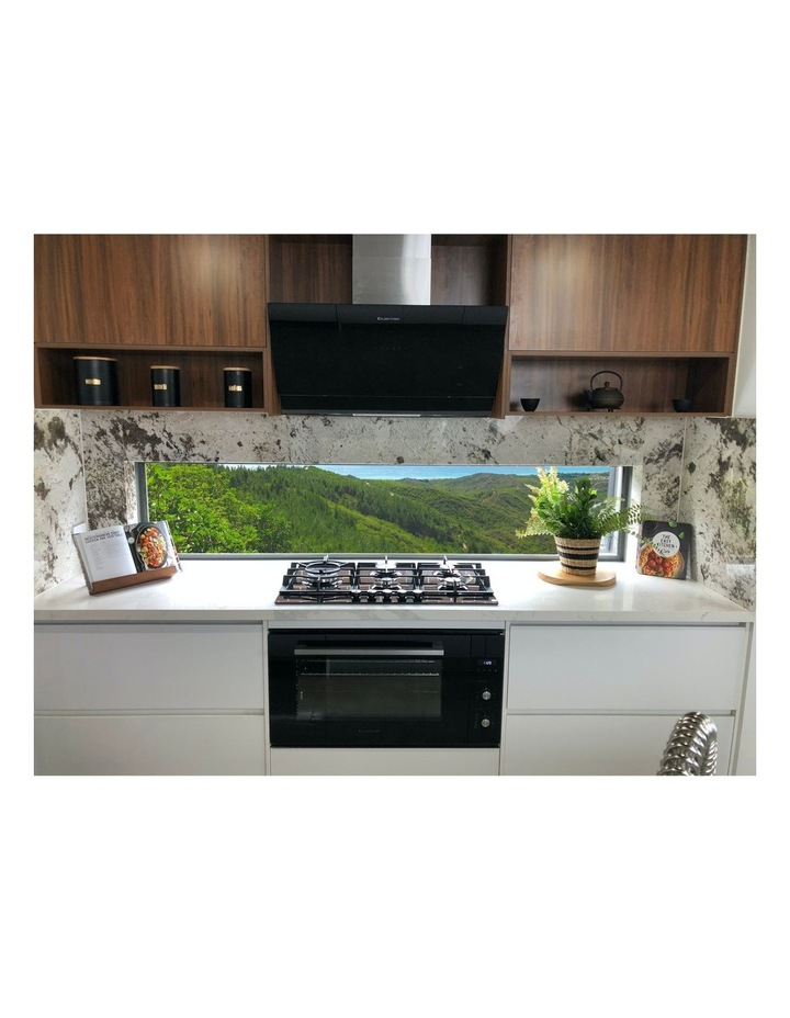 Vertical Black Glass Wall mounted 90cm Rangehood RHGV90 image 3