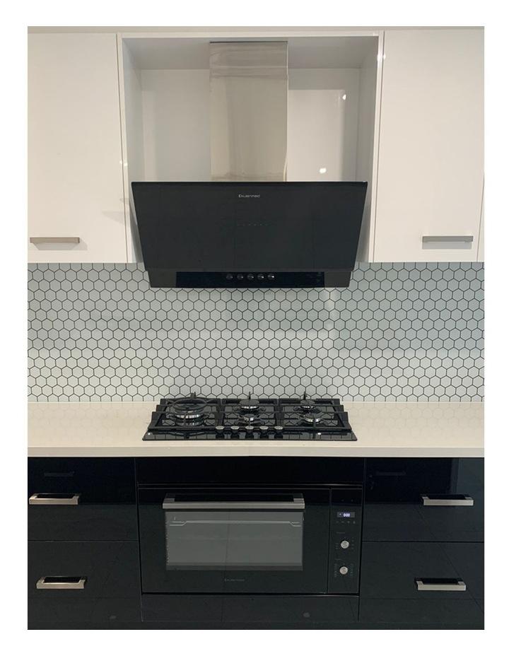 Vertical Black Glass Wall mounted 90cm Rangehood RHGV90 image 5