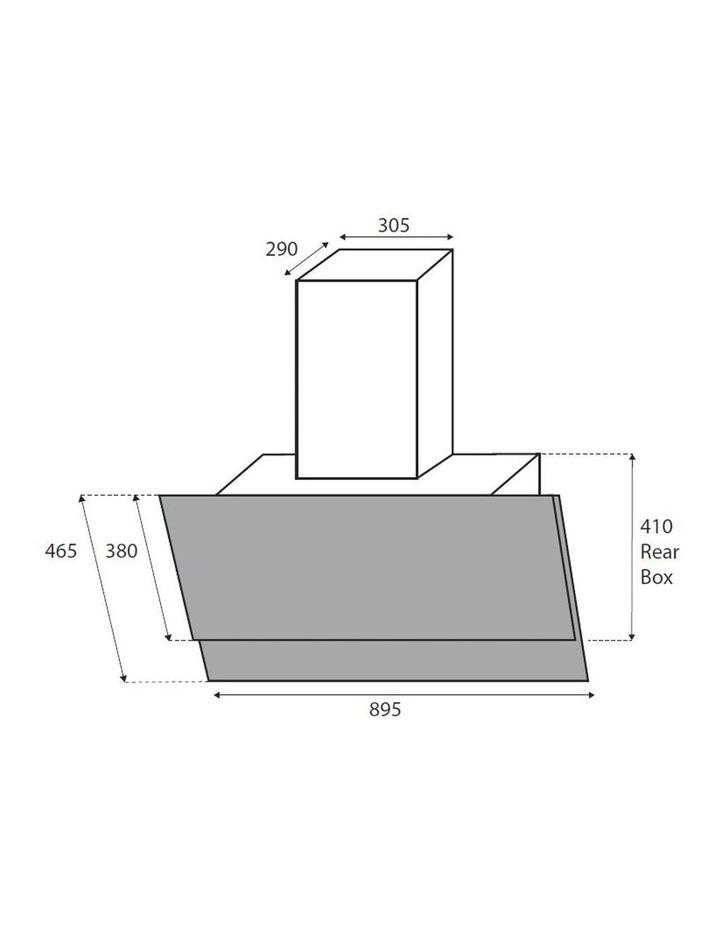 Vertical Black Glass Wall mounted 90cm Rangehood RHGV90 image 7