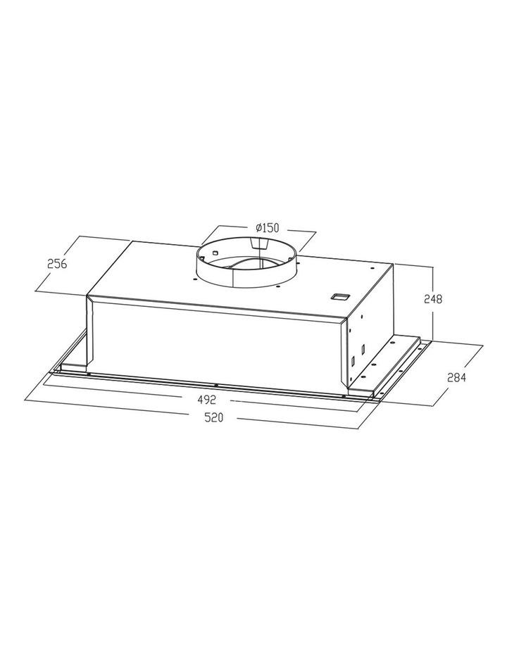 Stainless Steel Fixed Undermount 60cm Rangehood RHUC61 image 5
