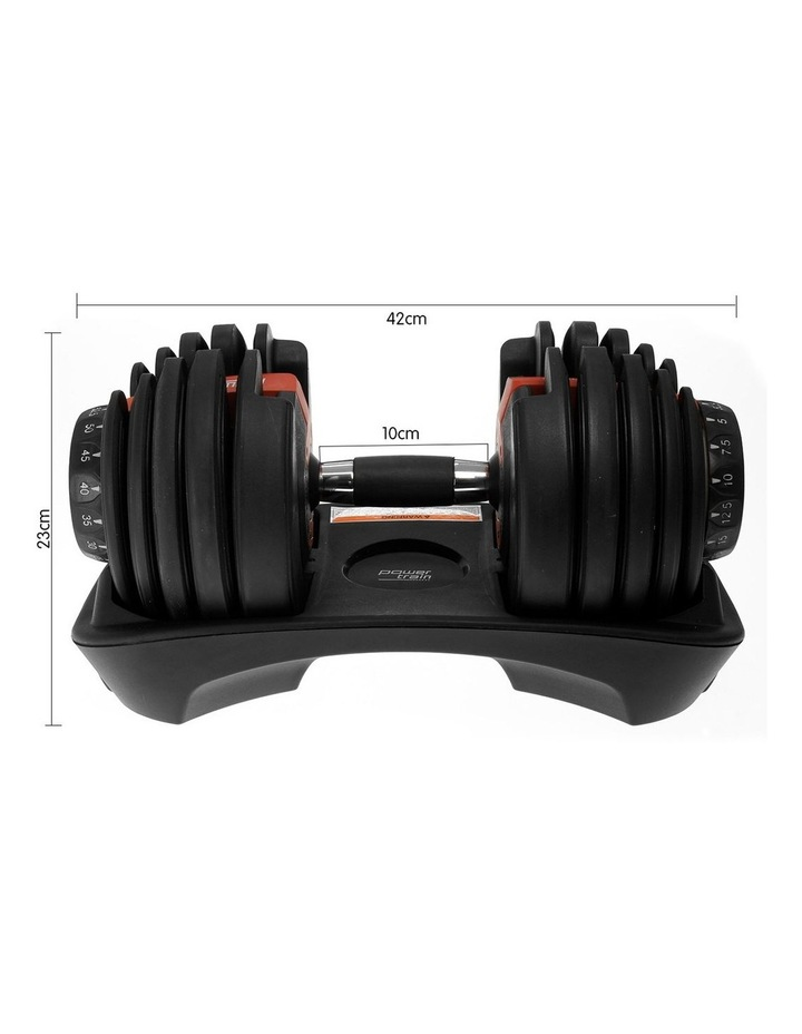 Powertrain 24kg Adjustable Dumbbell Home Gym Exercise Weights Free Workout image 3