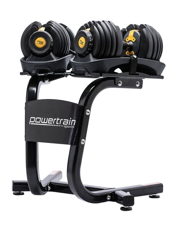 Powertrain 48kg Adjustable Dumbbell Set W/ Stand Home Gym Weights Gold image 1