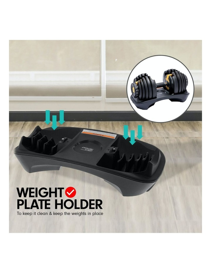 Powertrain 48kg Adjustable Dumbbell Set W/ Stand Home Gym Weights Gold image 4