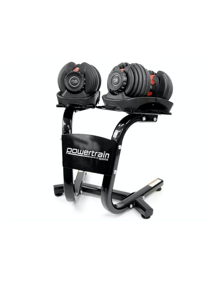 Powertrain 48kg Adjustable Dumbbells Set with Stand Home Gym Red image 1