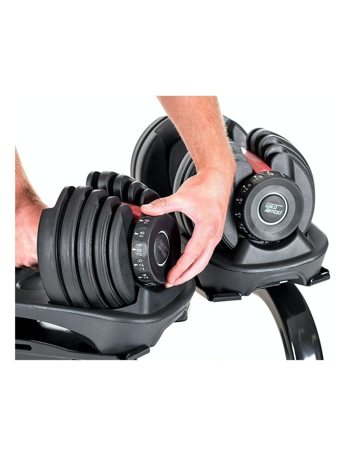 Powertrain 48kg Adjustable Dumbbells Set with Stand Home Gym Red image 3