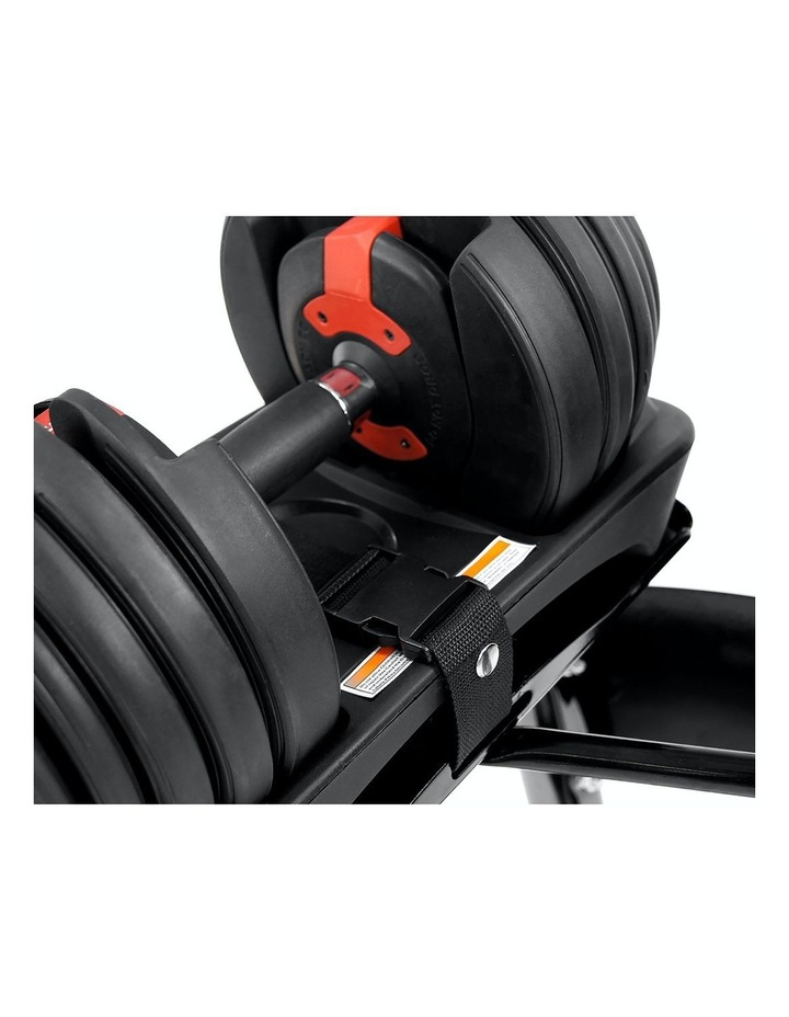 Powertrain 48kg Adjustable Dumbbells Set with Stand Home Gym Red image 4