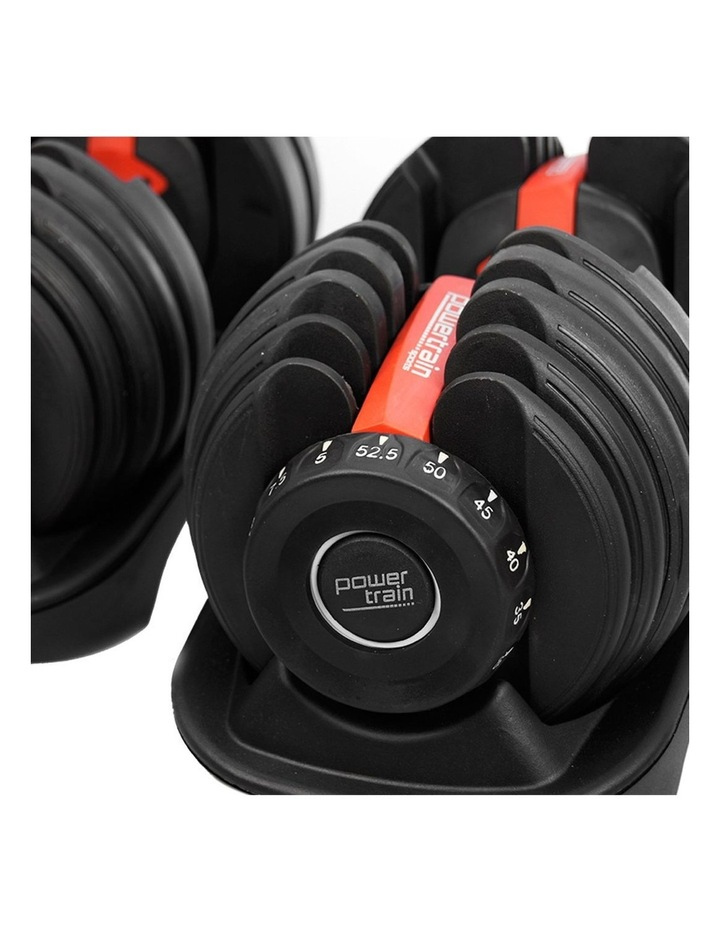 Powertrain 48kg Adjustable Dumbbells Set with Stand Home Gym Red image 7