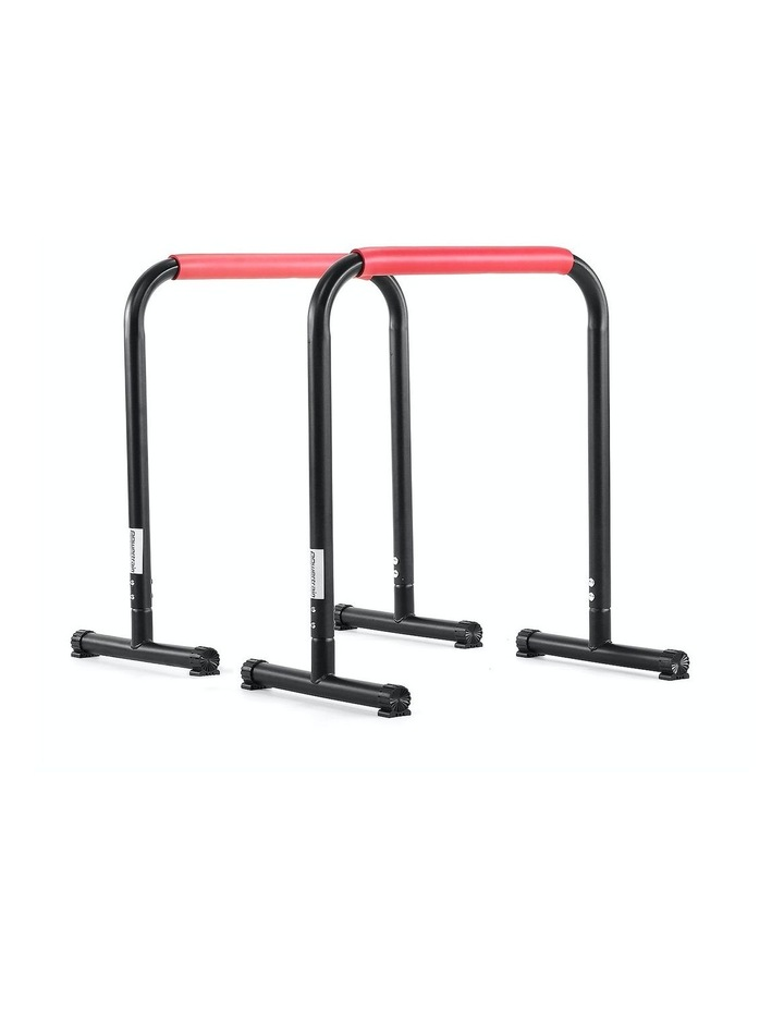 Powertrain Pair Dip Bar Parallette Stand Station Chin Up Push Pull Tower Fitness image 1