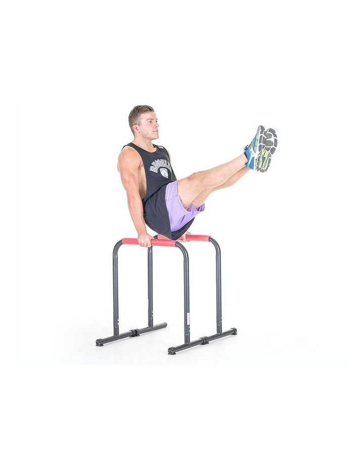 Powertrain Pair Dip Bar Parallette Stand Station Chin Up Push Pull Tower Fitness image 2