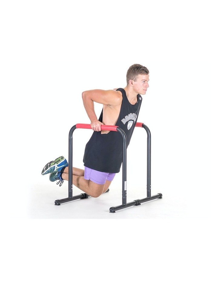 Powertrain Pair Dip Bar Parallette Stand Station Chin Up Push Pull Tower Fitness image 4