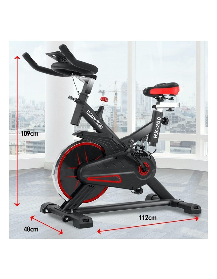 Powertrain Spin Bike Flywheel Rx-200 Exercise Machine Home Gym Cardio Red image 6