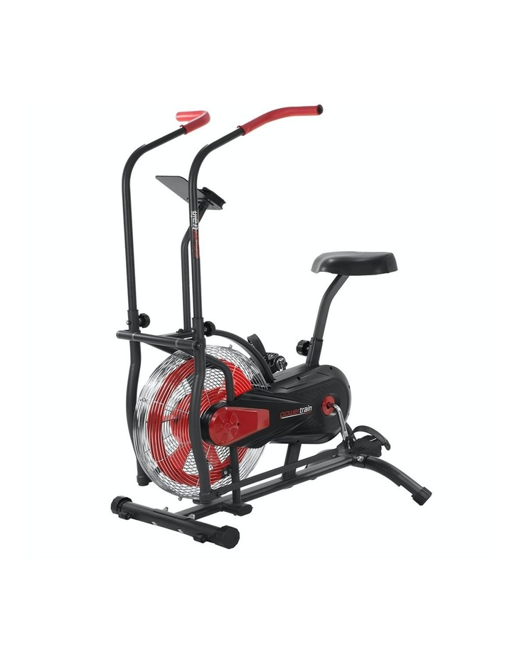 Powertrain Exercise Air Bike Spin Flywheel Fitness Equipment Home Gym Spinning Red image 1