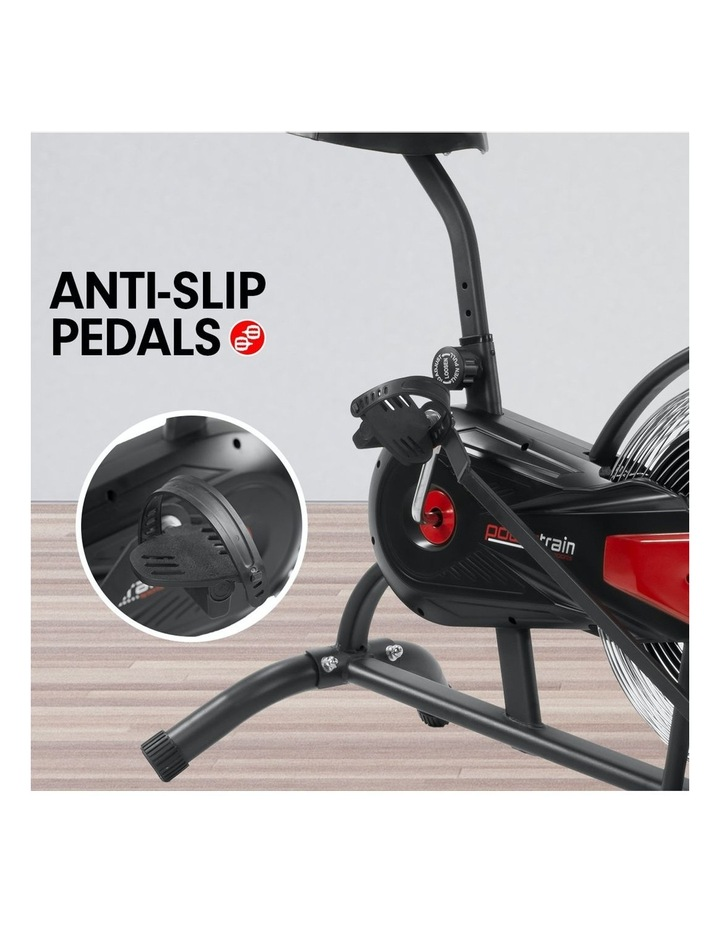 Powertrain Exercise Air Bike Spin Flywheel Fitness Equipment Home Gym Spinning Red image 4