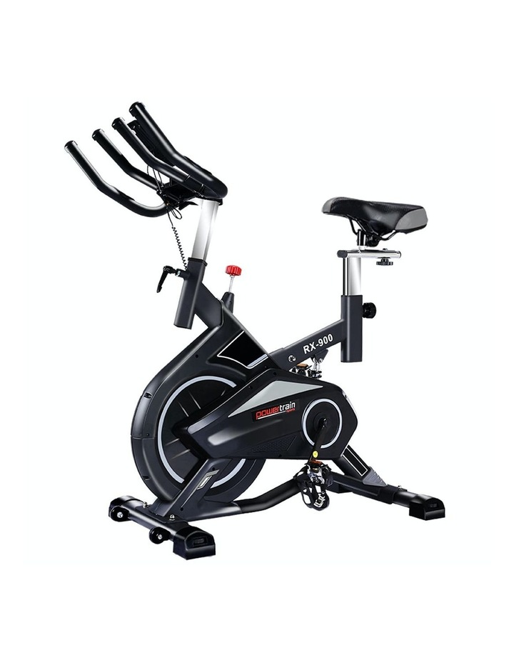 Powertrain Spin Bike Flywheel Exercise Home Gym Fitness Equipment Cardio Silver image 1