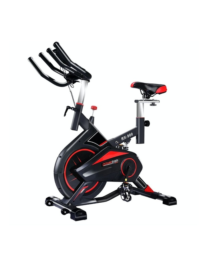 Powertrain Spin Bike Flywheel RX900 Exercise Home Gym Fitness Cardio Red image 1