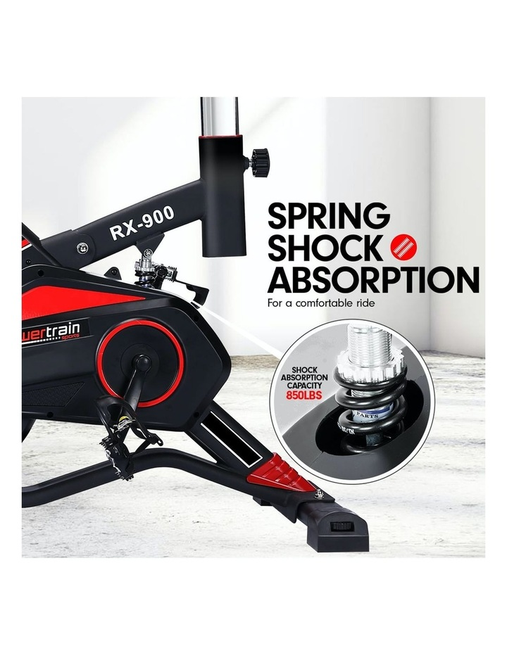 Powertrain Spin Bike Flywheel RX900 Exercise Home Gym Fitness Cardio Red image 7