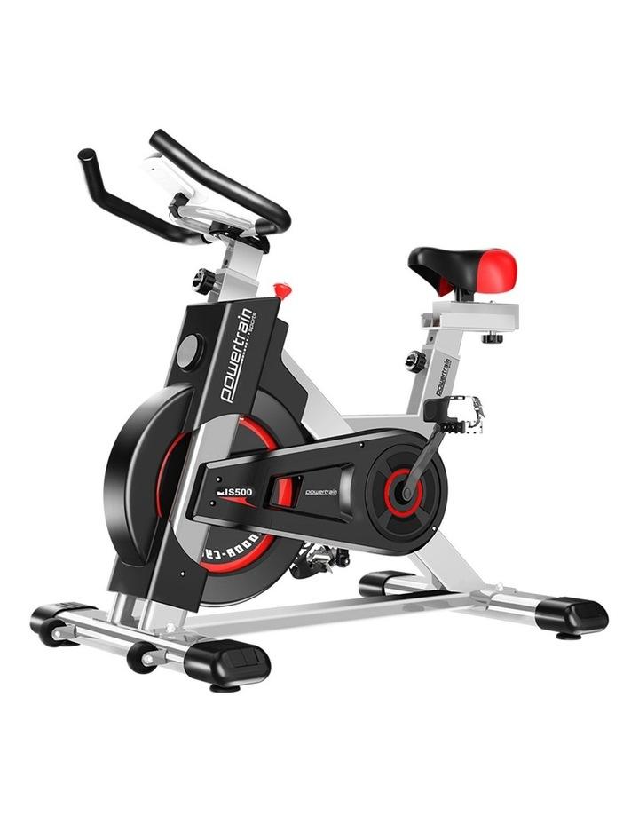 Powertrain Exercise Bike Spin Flywheel Cardio Home Gym Silver image 1
