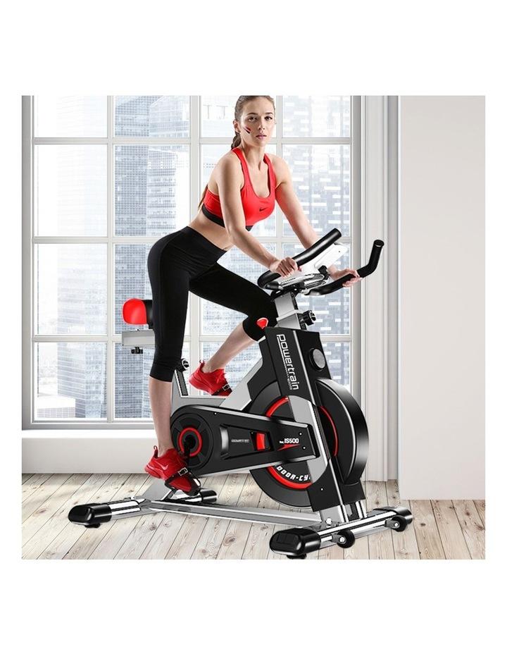 Powertrain Exercise Bike Spin Flywheel Cardio Home Gym Silver image 2