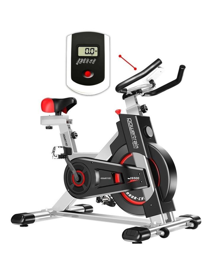 Powertrain Exercise Bike Spin Flywheel Cardio Home Gym Silver image 3