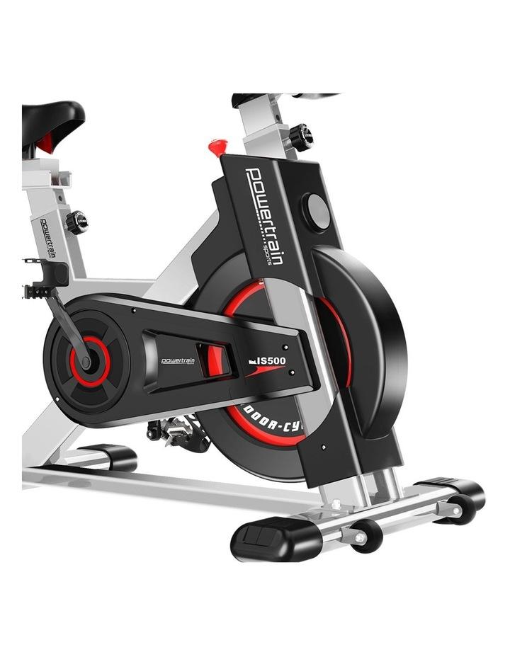 Powertrain Exercise Bike Spin Flywheel Cardio Home Gym Silver image 4