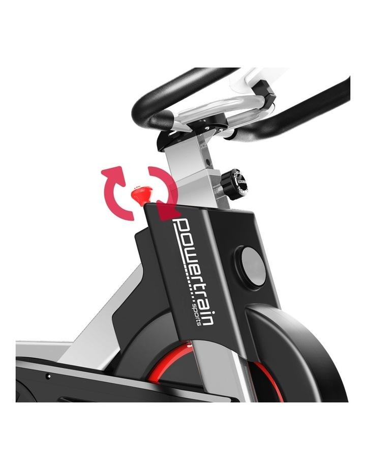 Powertrain Exercise Bike Spin Flywheel Cardio Home Gym Silver image 5