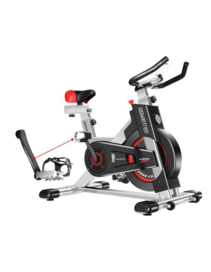 Powertrain Exercise Bike Spin Flywheel Cardio Home Gym Silver image 6
