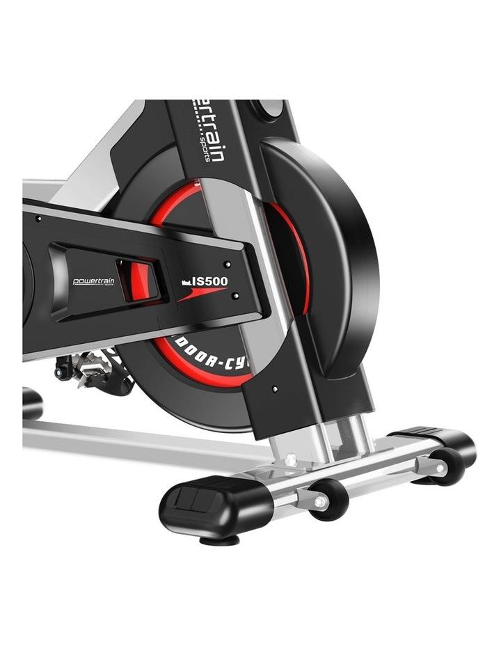 Powertrain Exercise Bike Spin Flywheel Cardio Home Gym Silver image 7
