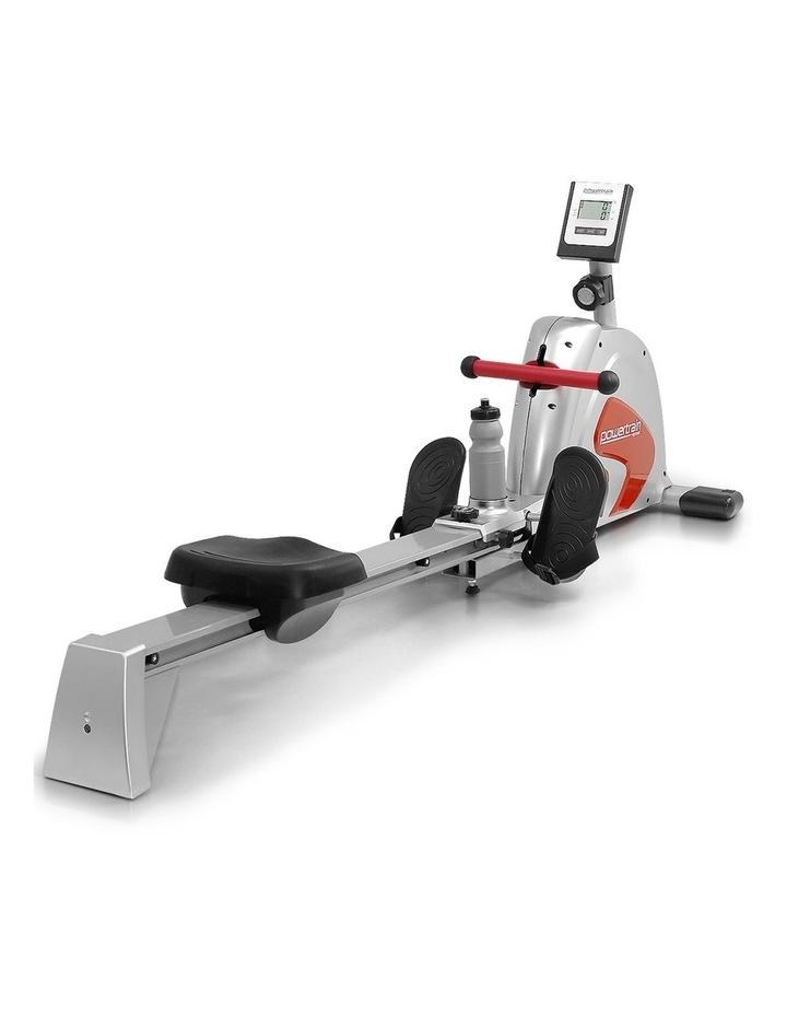 Powertrain Magnetic Flywheel Rowing Machine Home Gym Rower Silver image 1