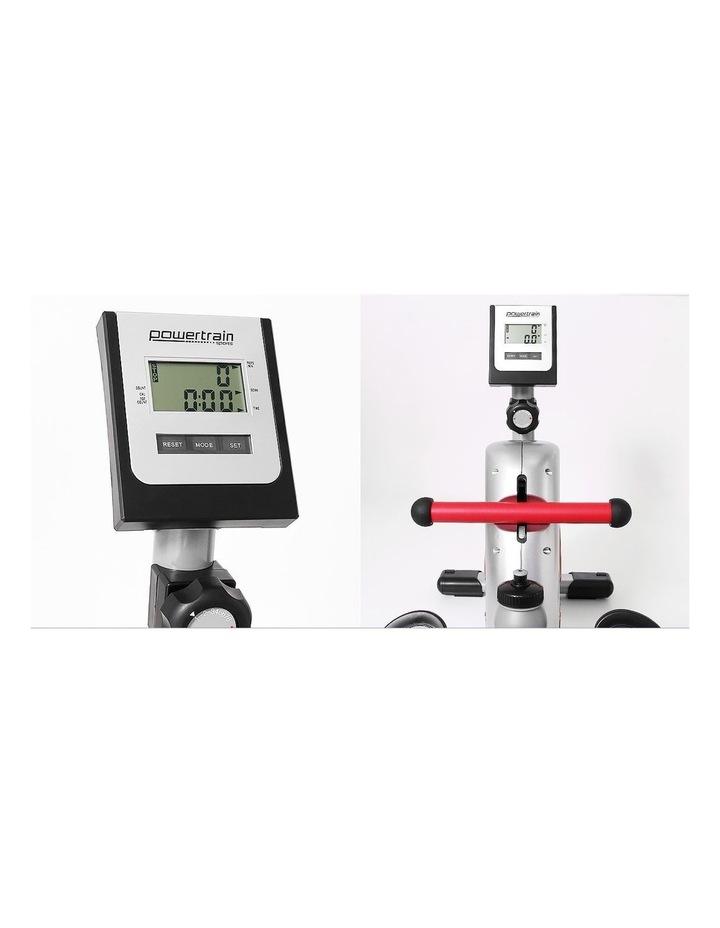 Powertrain Magnetic Flywheel Rowing Machine Home Gym Rower Silver image 2